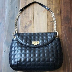 Antonio Melani Quilted Leather Chain Shoul…